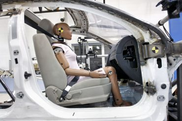 Auto Parts Maker Takata Demonstrates New Crash Test Facility